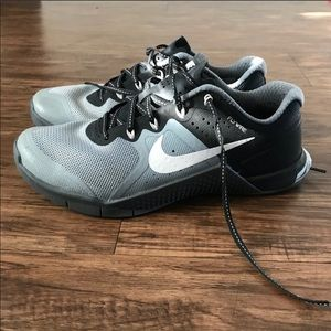 Grey and black Nike Metcons